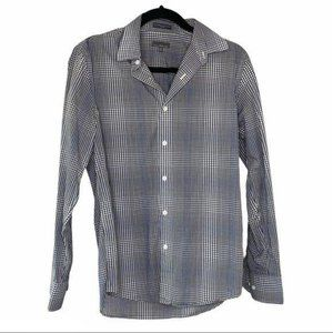 Calibrate Blue and White Plaid Button Up